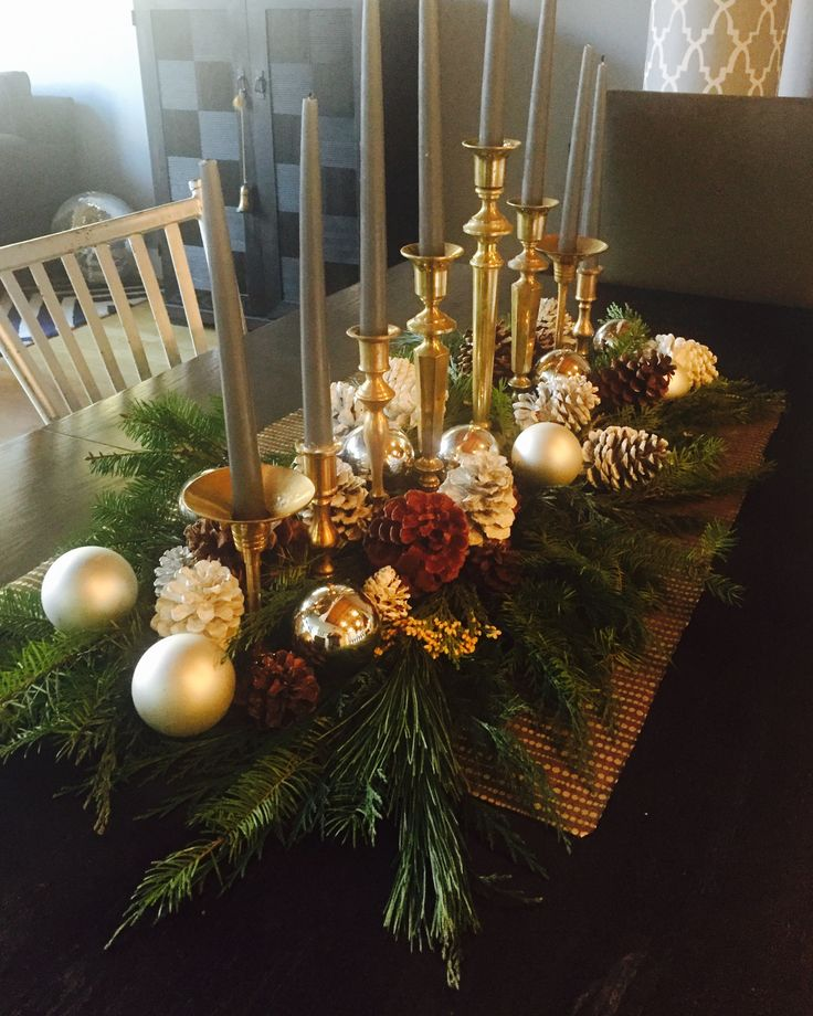 Christmas Table Decorations.