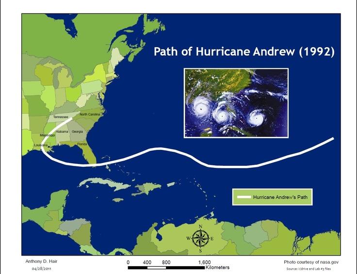 Path of Hurricane Andrew