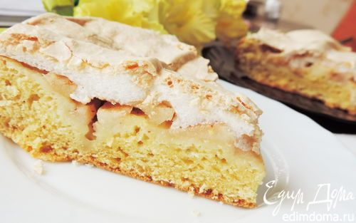 Яблочный пирог на творожном тесте | Кулинарные рецепты от «Едим дома!»