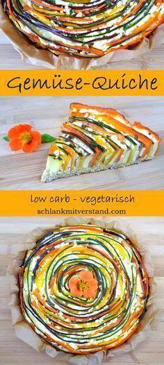 Gemüse-Quiche low carb, vegetarisch, glutenfrei Kennt ihr das? Man probiert ein…