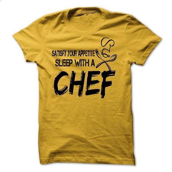 Sleep With A Chef - Tee-shirt - #funny tshirts #full zip hoodie. ORDER HERE => https://www.sunfrog.com/Funny/Sleep-With-A-Chef--Tee-shirt.html?60505
