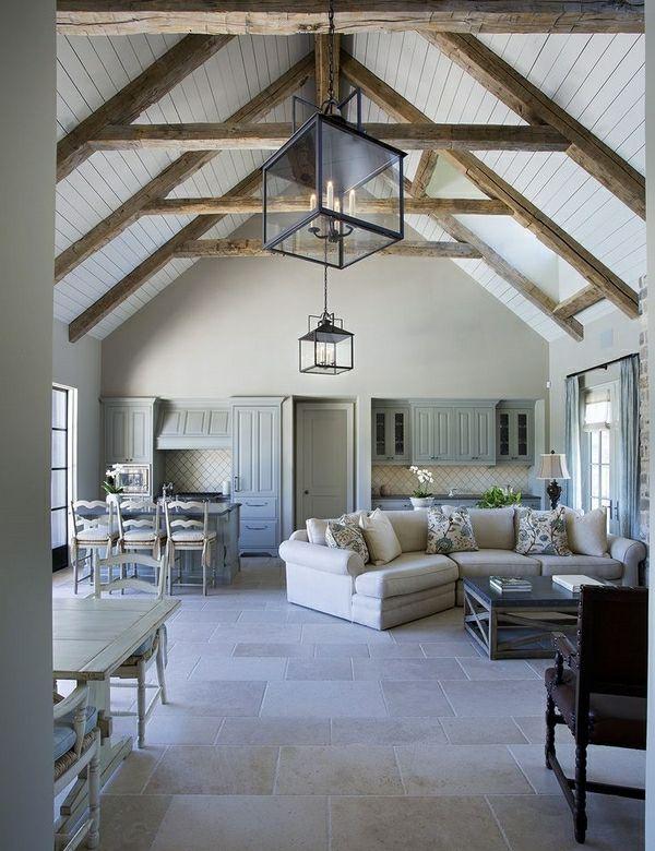 groes wohnzimmer zimmerdecken ideen