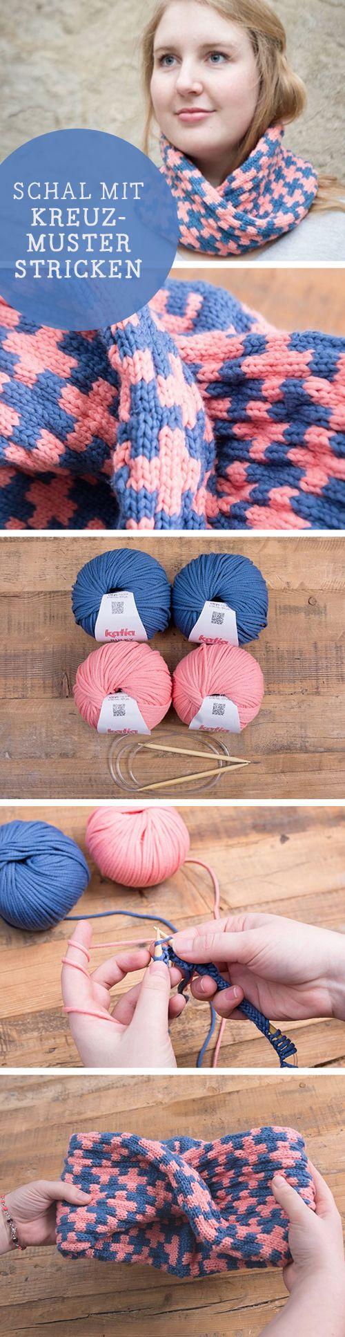 DIY-Anleitung für einen Loop-Schal mit angesagtem Kreuzmuster / diy tutorial for knitted loop scarf, modern pattern via DaWanda.com