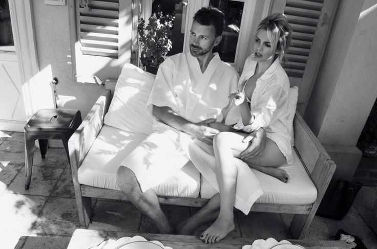 Saint Tropez Pastis hotel - summer - hot - sexy - couple love - hair up - messy hair - white bikini and white t shirt - inspiration simple style - fasthion - retro - 60 s - bardot  cinema - la piscine - romy et delon  -- photography by amazing eva gii