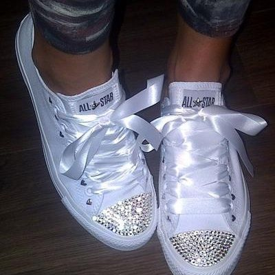 Stunning ~ Rhinestone Crystalized Shoes ~ohh Lala so going to make my own!