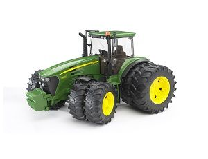 The John Deere 7930 Tractor with Twin Tyres from the Bruder Tractor collection - Discounts on all Bruder Toys at Wonderland Models.    One of our favourite models in the Bruder Tractor and Trailer range is the Bruder John Deere 7930 Tractor with Twin Tyres.    What farm would be complete without a tractor? This classic tractor is made of high quality plastic for years of outdoor or indoor play.