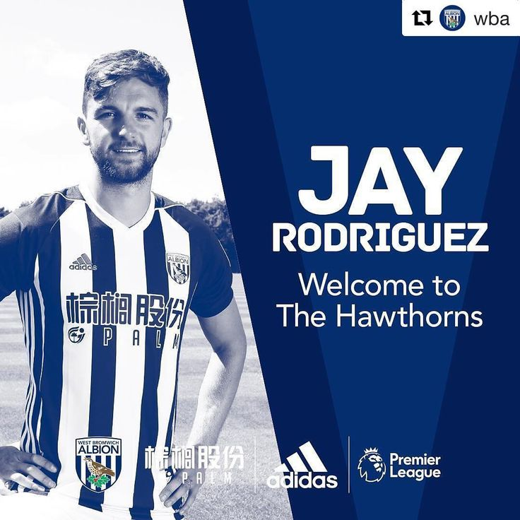 #Repost @wba ・・・ Done deal! Introducing Jay Rodriguez!  #WelcomeJay #NewSigning #PremierLeague #WBA