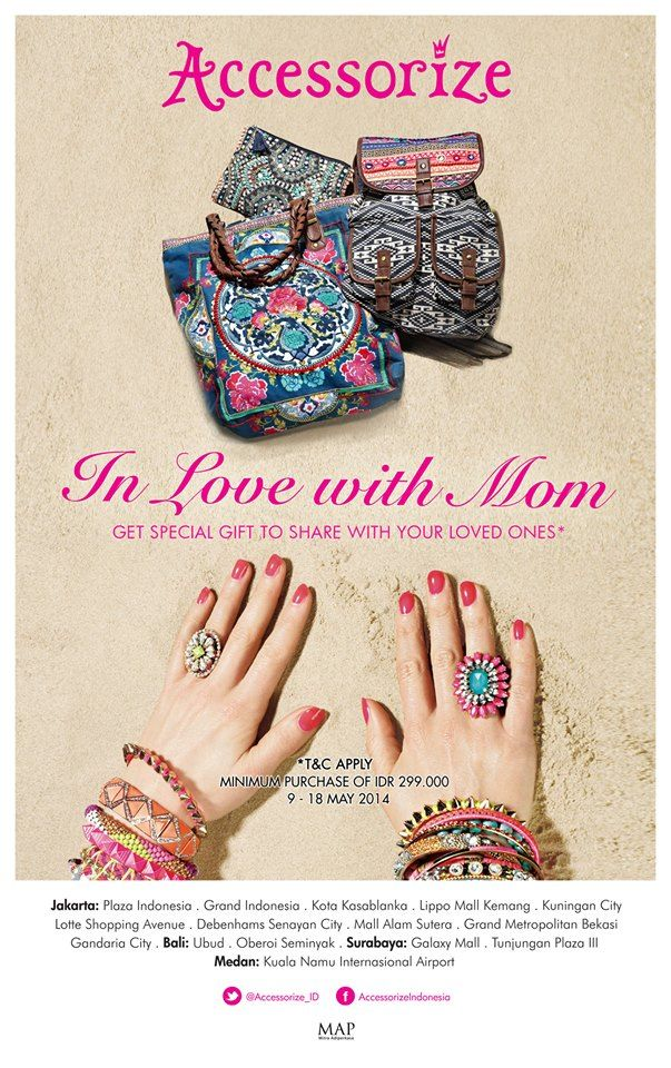 Mother's day is coming and ACCESSORIZE is celebrating!