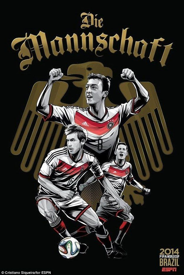 2. Germany | Community Post: An Artist Created 32 Incredible Posters For Each Team In The FIFA World Cup