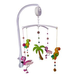 Beautiful baby mobile with flamingos parrots and a - Stylefruits mobel ...