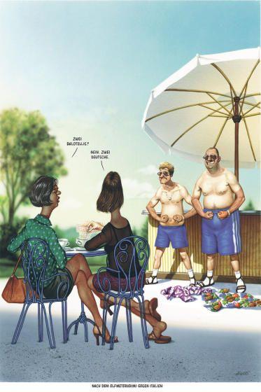 """Haderer-Karikatur vom 9. Juli 2016: """"Nach dem Elfmeterkrimi gegen Italien"""" Mehr Bilder auf: http://www.nachrichten.at/nachrichten/fotogalerien/cme14862,1523921 (Bild: Haderer)"""