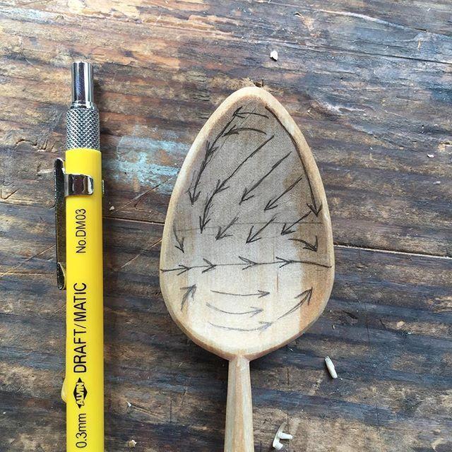 Map of my method for hollowing. #slöjd #sloyd #woodenbowl #hewn #mittenlove #puremichigan #madeinmichigan #harborsprings #petoskey #spooncarving #woodenspoon #birch #birchbarck #cooking #kitchen #woodworkng #handmade #handcrafted #handtools #axe #knife #farmersmarket