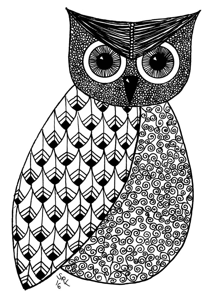 Owl 5 by Sandy Rosenvinge Lundbye. Copyright 2016.