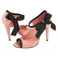 I'm obsessed with Betsey Johnson: Betsy Johnson, Style, Johnson Fashion, Things Betsy, Black Bows, Pink Shoes, Black Satin, Big Bows, Betsey Johnson