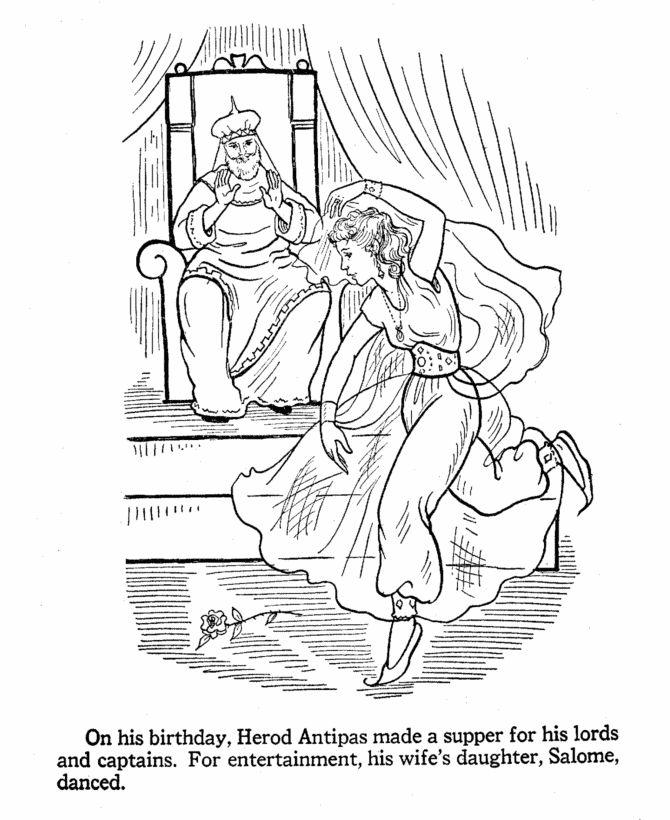 the daughter of Herodias dances
