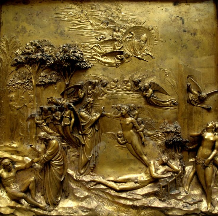 Story of Adam and Eva on the Gates of Paradise, Baptistry of San Giovanni, #Florence.