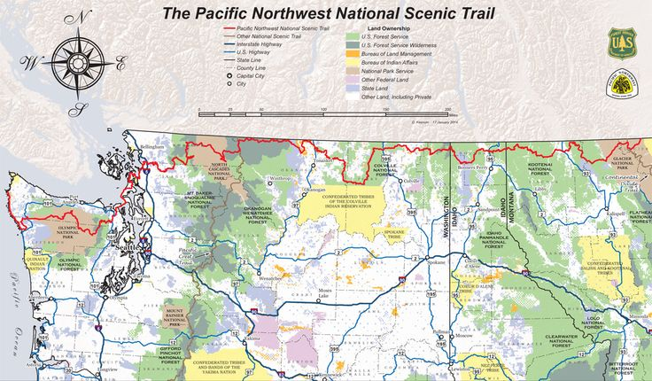 nonstop hike from Montana to the Pacific Ocean that is a top 100 hike. The Pacific Northwest Trail to be formalized soon, see what's new.