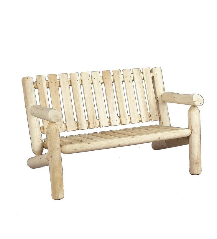Made in America Northern White Cedar 4-ft. Outdoor Settee | Outdoor Benches
