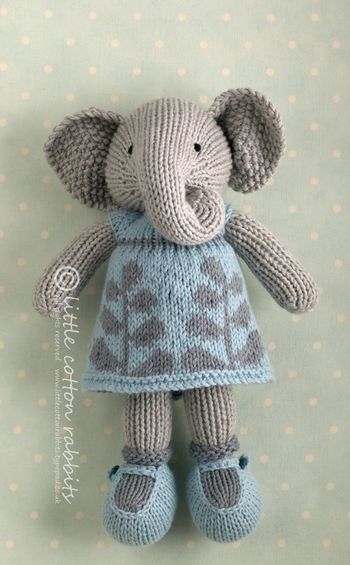 Ellamae too cute--ELEPHANT... one of my knitting friends needs to make this for my little girl!