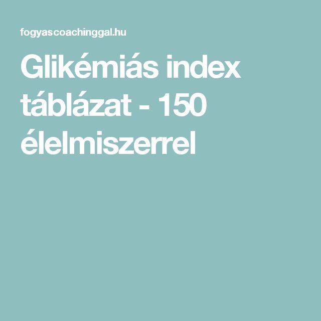 Glikémiás index táblázat - 150 élelmiszerrel