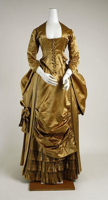 Evening dress, early 1880's US, the Met Museum--I love this color...would look great on me!