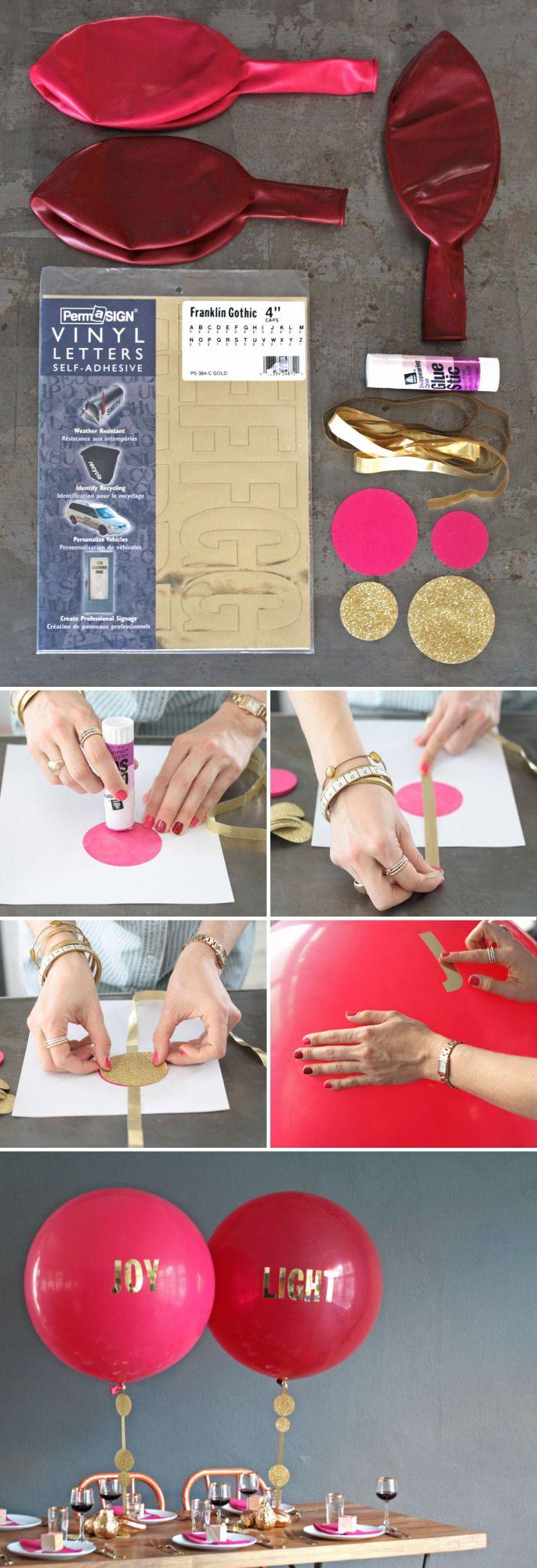 Tutorial para decorar globos gigantes con letras. #ManualidadesParaFiestas