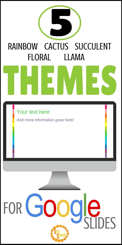 Google Slide Theme Templates {Editable} | SPANISH Learning | Spanish
