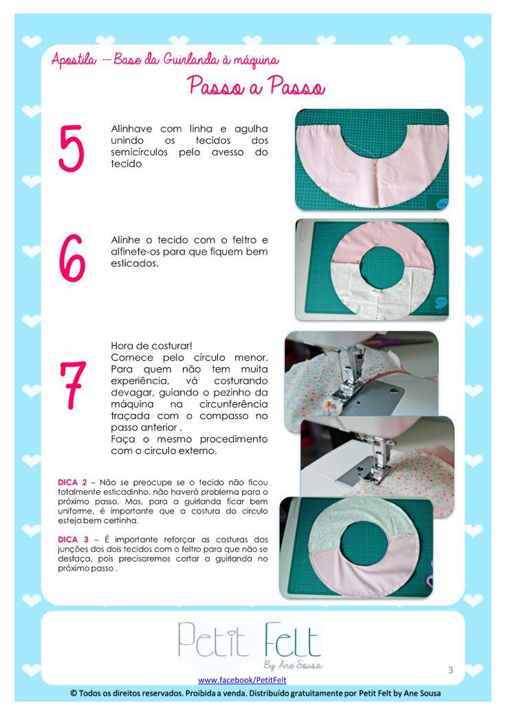 Amigas do Feltro: Apostila- Base da guirlanda à maquina   Tutorial - How To Make A Name Wreath