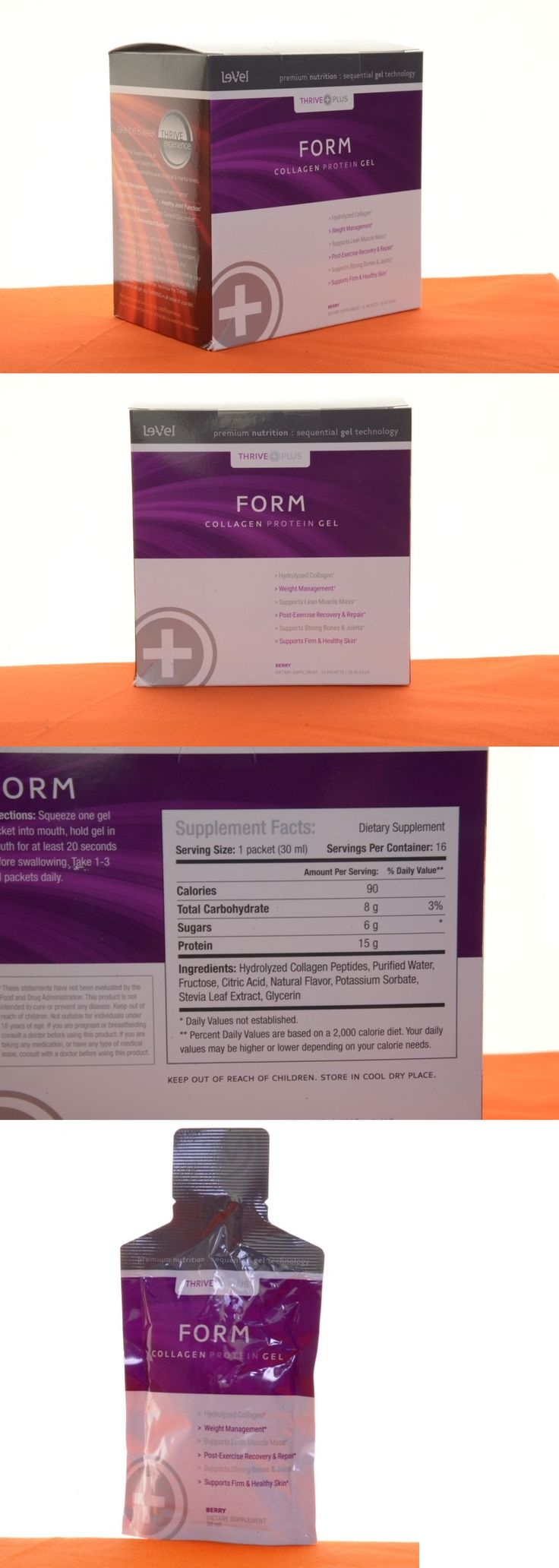 Weight Loss Supplements: Le-Vel Thrive Form Collagen Protein Gel 16 Sealed Packs Very Fresh BUY IT NOW ONLY: $41.97