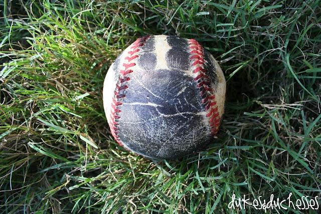 baseball with handprint