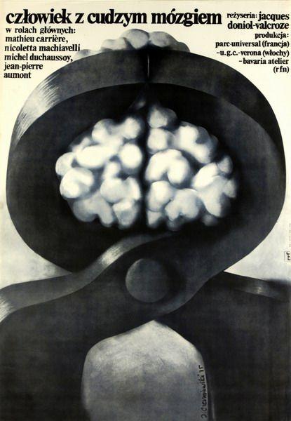 Le Homme au cerveau greffe Czlowiek z cudzym mozgiem Czerniawski Jerzy Polish Poster