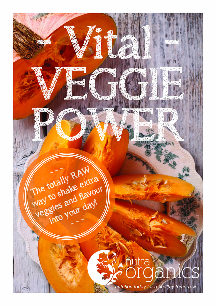 Vital Veggie Power e-book, information, inspiration, ideas and recipes to use our amazing Vital Veggie Power from our range available in our online store at www.nutraorganics.com.au for $2.99 australian