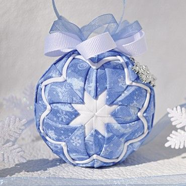 Mary Maxim - Snow Flurries Quilted Ornament - Quilted Keepsake Ornaments - Promotions