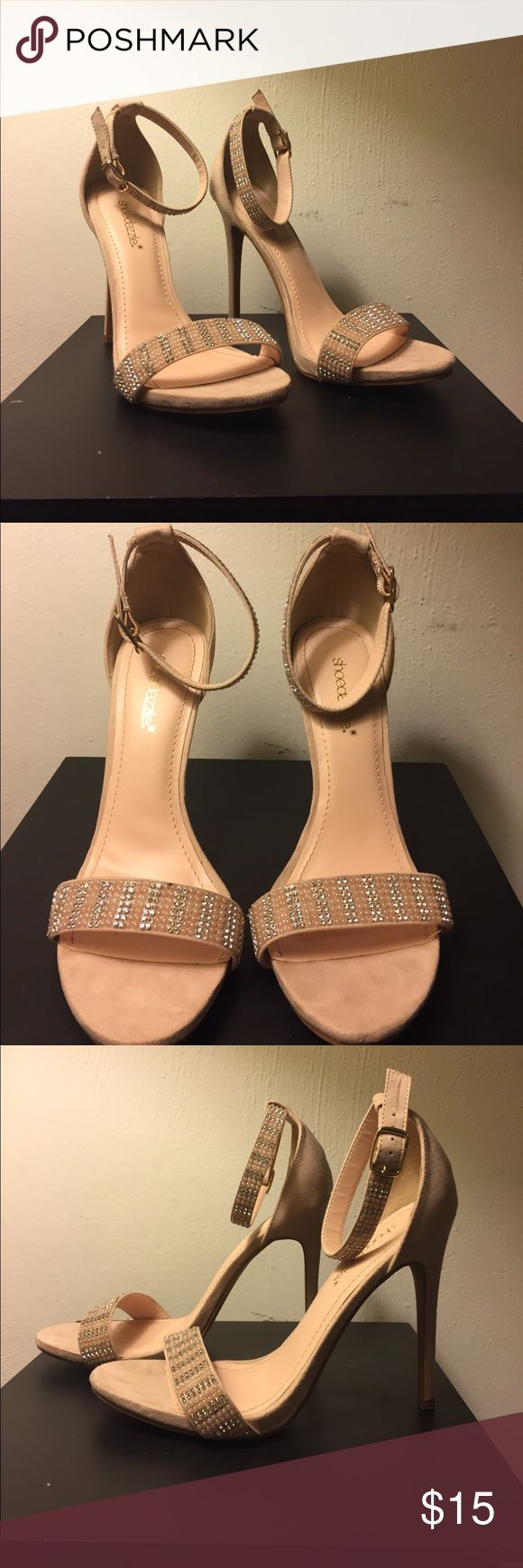 Blush Pink Shoe Dazzle Heels Worn but in amazing condition still.  They're very comfortable.  Price is firm because of how low I'm pricing them. Unless you put them in a bundle I can possibly come down in price. Shoe Dazzle Shoes Heels