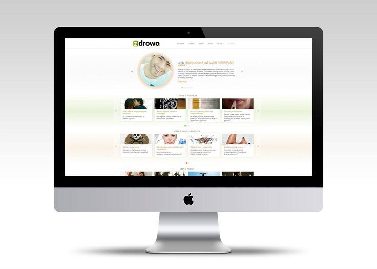 Strona internetowa portalu zdrowo.pl  #webdesign #website #userinterface #minimalism #layout #www #stronywww #stronyinternetowe