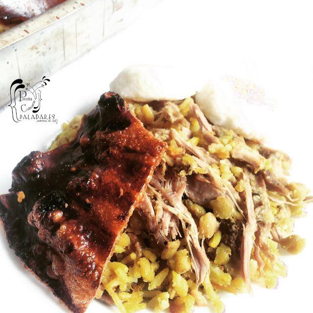 Paladares {Sabores de nati }: Lechona Tolimense Colombiana con sabor a Navidad. Carne de cerdo, Christmas, cocina colombiana, colombia, Colombian cuisine, Lechona, recetas navideñas