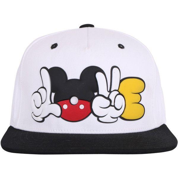 ililily LOVE Cartoon Rubber Logo New Era Style Snapback Trucker Hat... ($19) ❤ liked on Polyvore featuring accessories, hats, cap, white, white baseball cap, white baseball hat, white trucker hat, truck caps and baseball hats