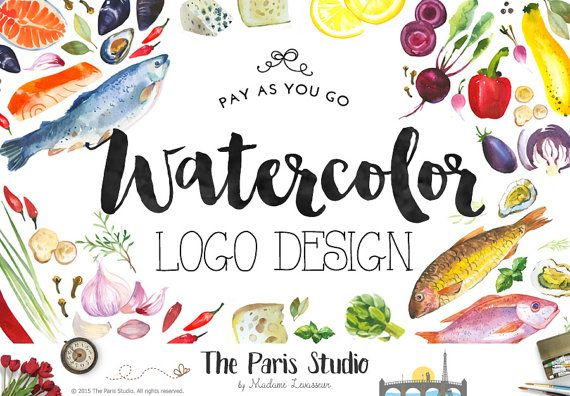 Custom Logo Design Pay As You Go Food Logo by TheParisStudio