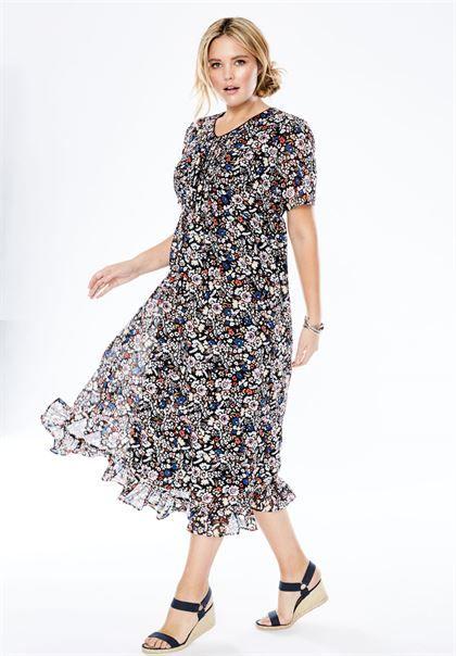 3d1bb7c3cc9 Pintuck print dress