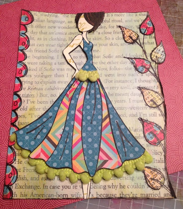 Julie Nutting Paper Doll Stamp by Prima
