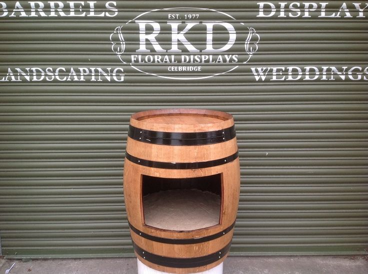 Wine Barrel with Shelve By RKD Floral Displays