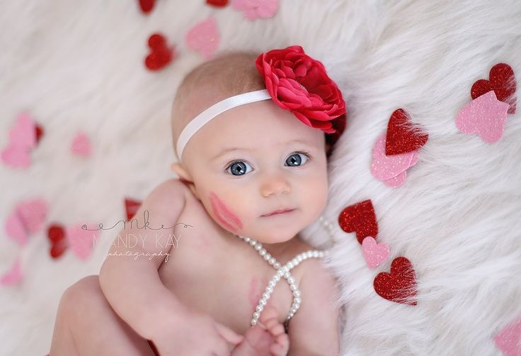 6 month baby picture ideas perfect picture for Ada bc she will be 6 months on Valentine's Day