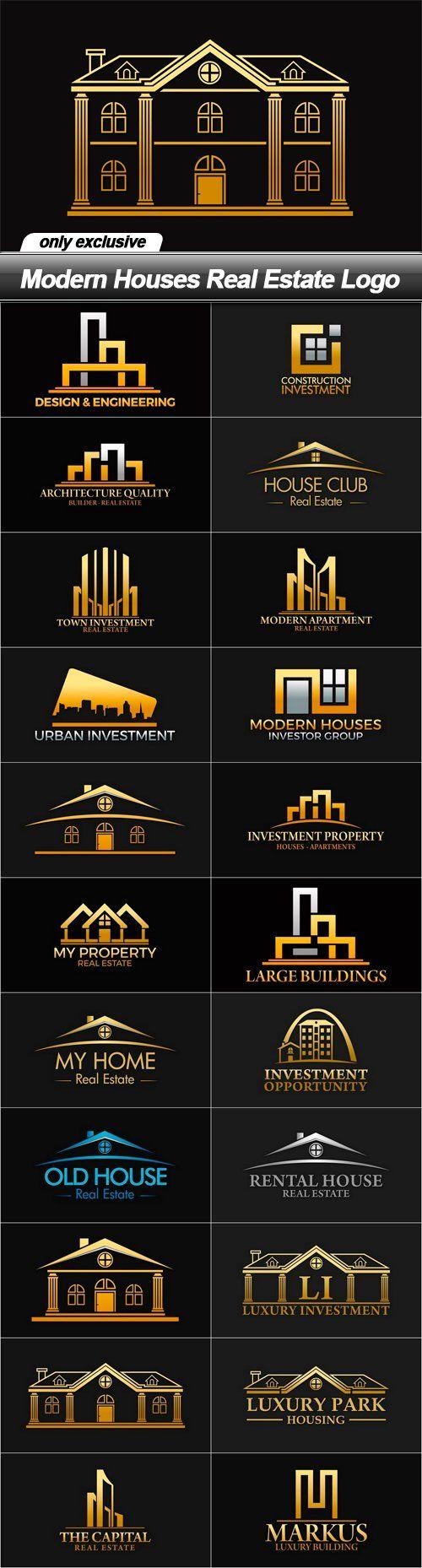 Modern Houses Real Estate Logo                                                                                                                                                                                 More