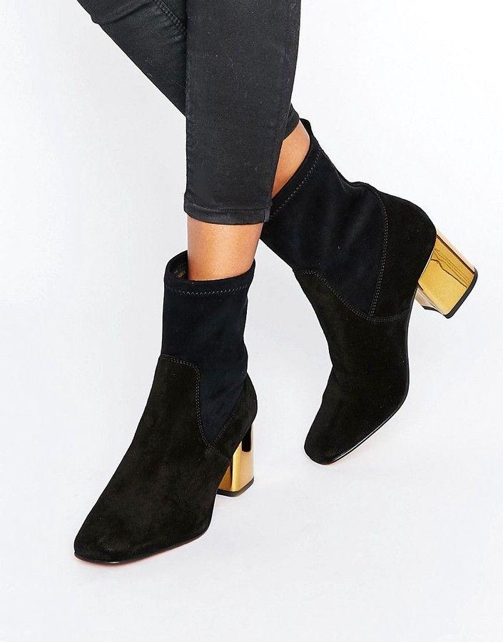 Carvela Slick Detail Heeled Ankle Boots