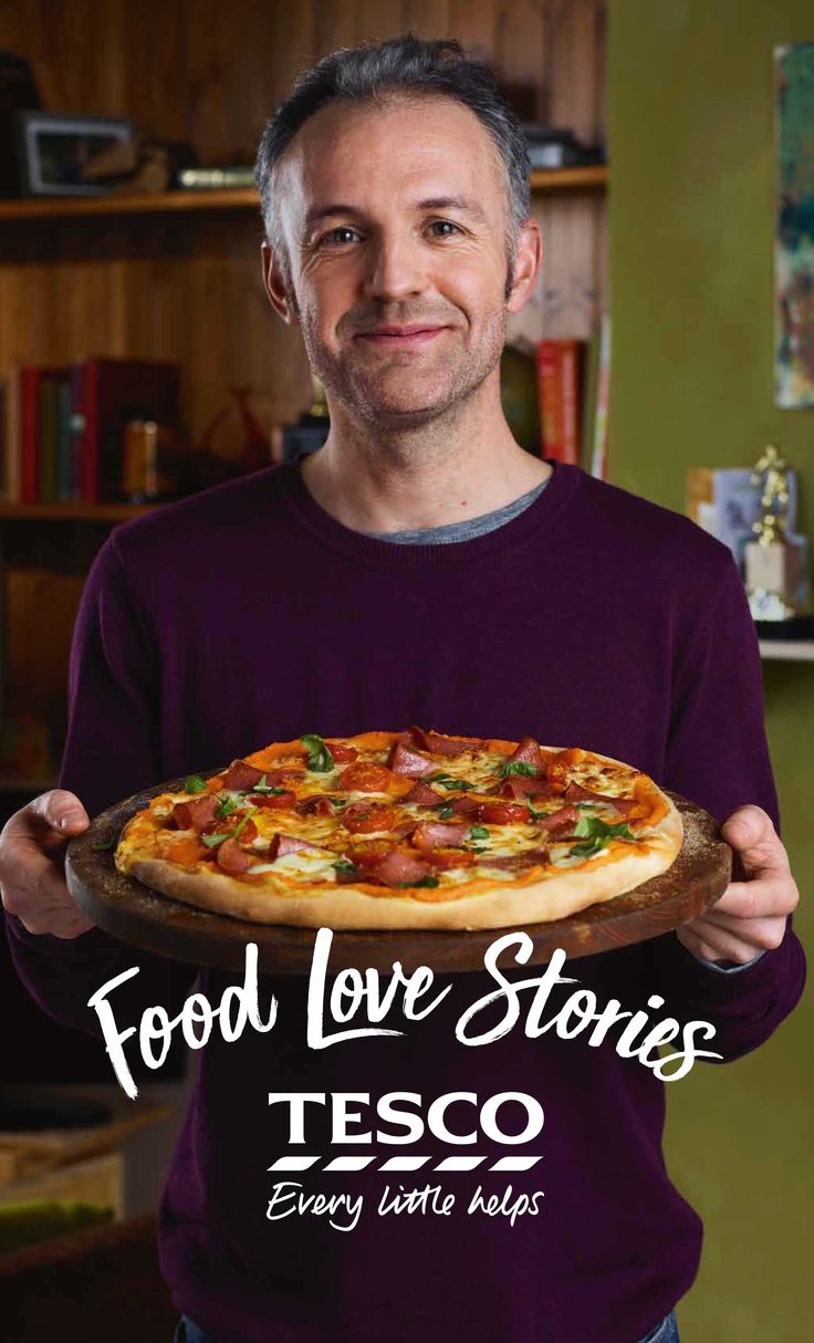 Learn how to make 'Alan's' pizza from our Food Love Story. His son 'Dec' visits every Saturday, and after football in the park 'Alan' makes their favourite meal: pizza with a butternut squash sauce.   Tesco