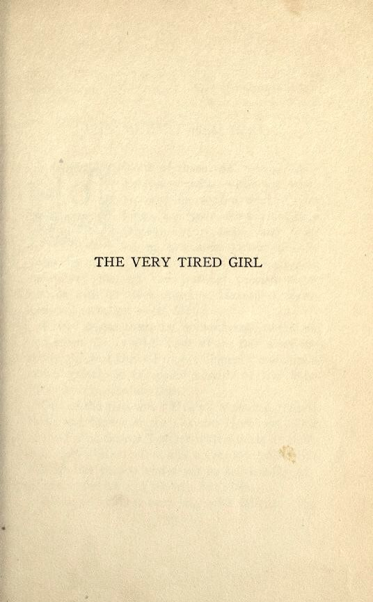 book.the very tired girl, the pages are blank