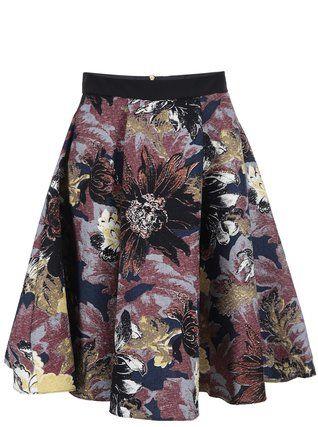 Closet - Barevná vzorovaná sukně - 1