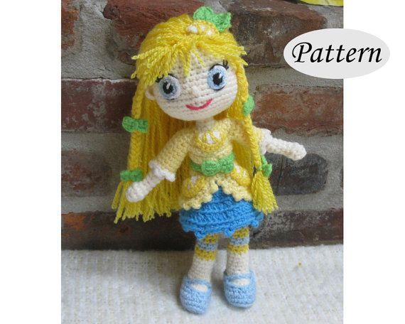 PATTERN  Lemon Meringue  Strawberry Shortcake  by CrochetCuteDolls