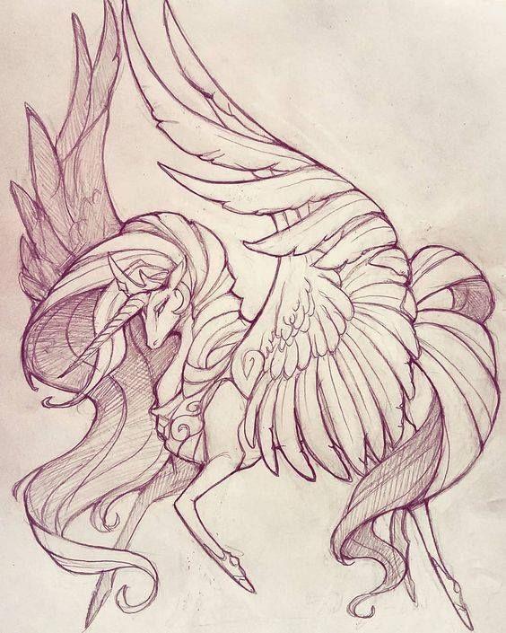 Картинки карандашом мифические существа