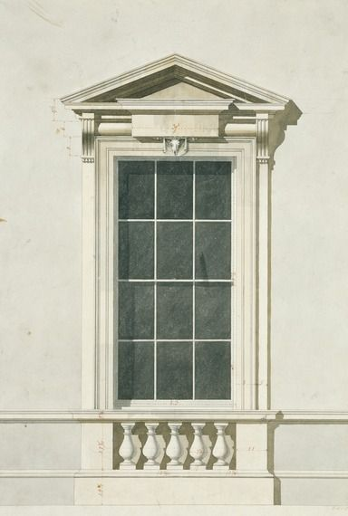 Design for a Window by James Paine - 18th century English architect